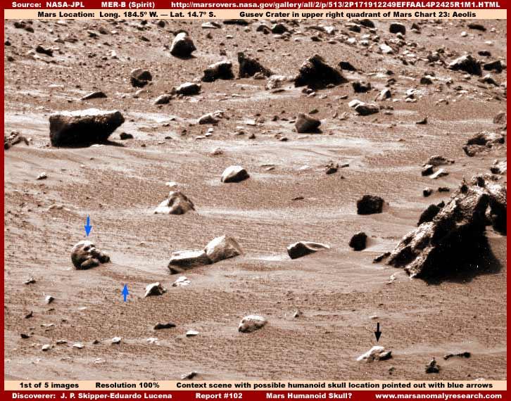 Anomalias en fotos de la NASA:Marte y La Luna
