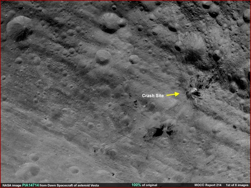 Asteroid Vesta Evidence